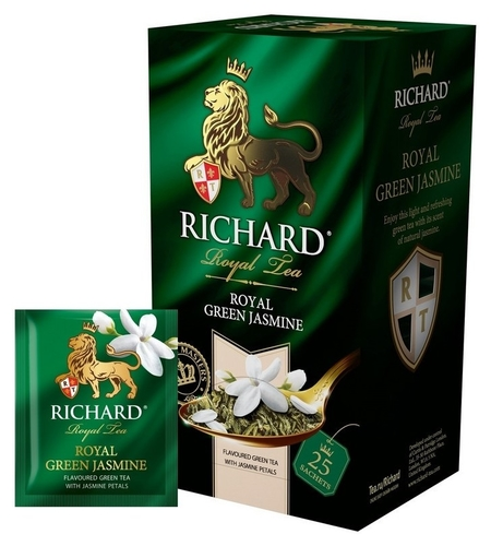 Чай Richard Royal Green Jasmine зелен., 25 пак 14731  Richard