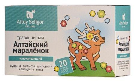 Травяной чай для детей Altay Seligor «Алтайский мараленок» успокаивающий, 20 фильтр-пакетов  NNB