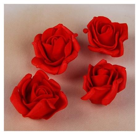 Набор цветков-бантов из фоамирана, D=5 см, 4 шт, красный  NNB