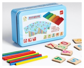"Развивающий набор для счёта магнитный ""Цифры + палочки"" 8х13х4 см"