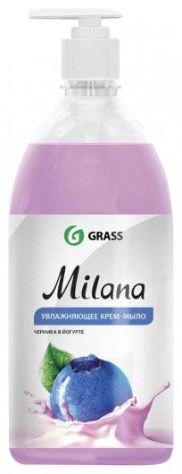Крем-мыло жидкое Черника в йогурте  Grass