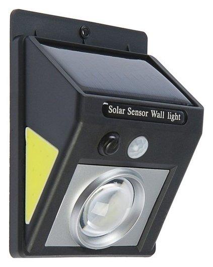 Светильник уличный с датчиком движения, солнечная батарея, 5 Вт, COB Led, направленный свет  LuazON