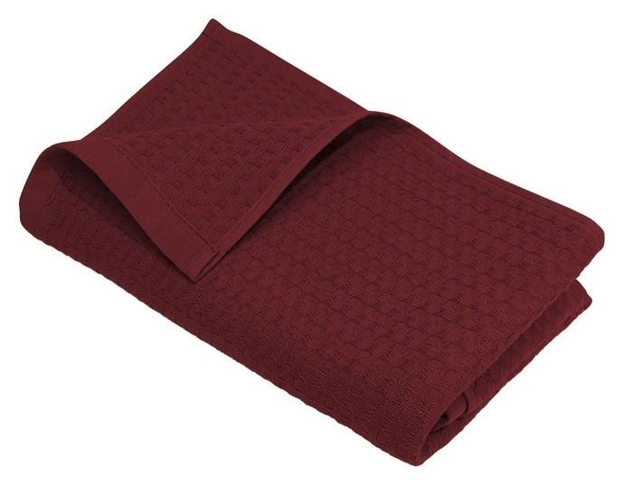 Полотенце вафельное «Деметра» 50х80 см, цвет бордо, 220г/м2  Счастье, когда он и она в удовольствие...