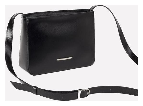 Сумка женская, отдел на молнии, наружный карман, регулируемый ремень, цвет чёрный  Sоuffle