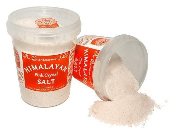 Соль гималайская пищевая розовая мелкая  Himalayan Pink Crystal Salt