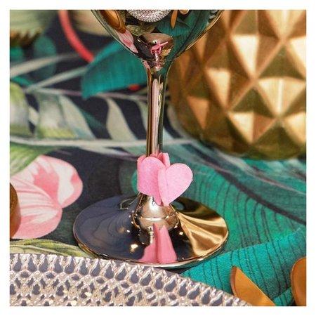 Декор для бокала Love 4 шт, 7,3 х 2,4 см, 100 % п-э, фетр Доляна
