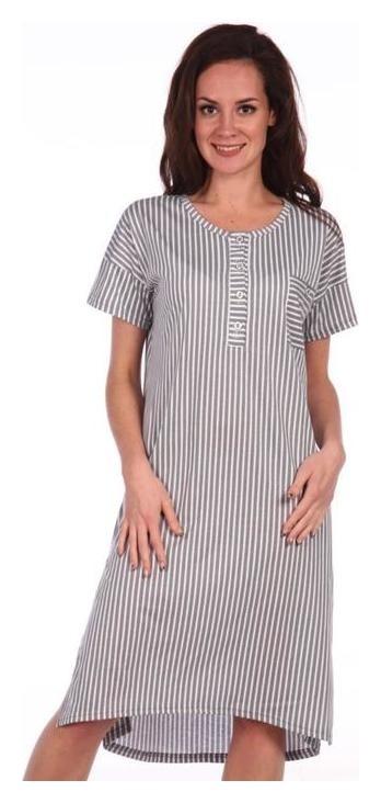 Туника женская, цвет бело-серый/полоска, размер 56  Modellini