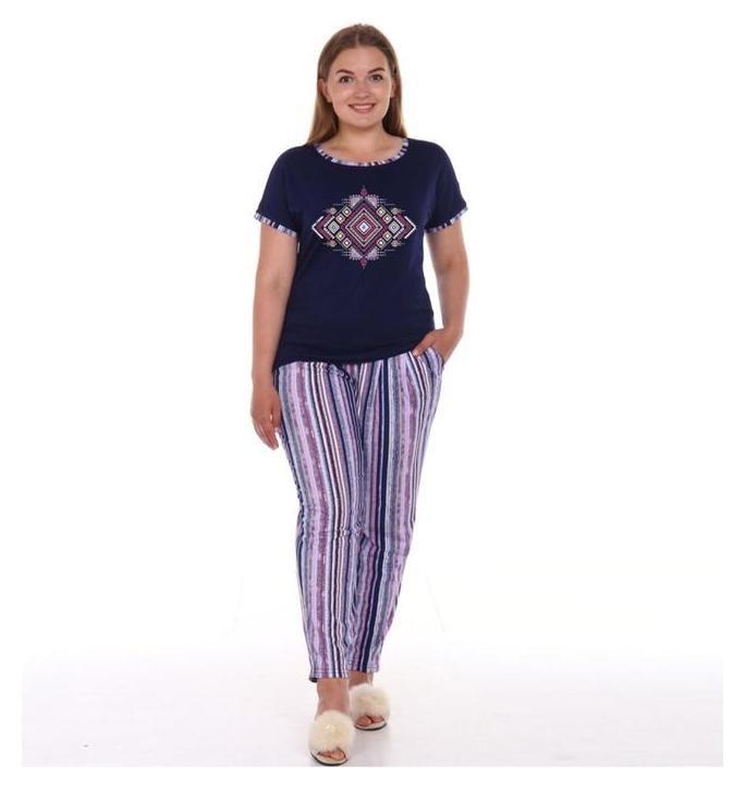 Костюм женский (Футболка, брюки), цвет фиолетовый, размер 48  Modellini