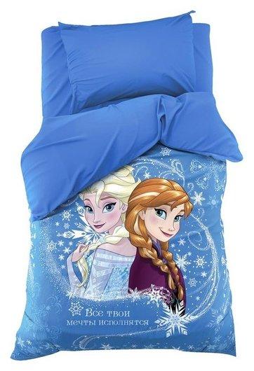 "Постельное бельё 1.5 сп ""Холодное сердце: принцессы"" 143х215 см, 150х214 см, 50х70 1 шт, поплин 125 г/м2  Disney"