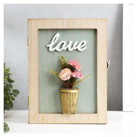 Ключница Цветы в горшке Love  NNB