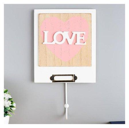 Крючок декоративный Сердце с надписью Love  NNB