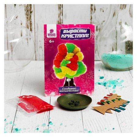 """Набор для выращивания кристалла """"Волшебное дерево"""" цвет разноцветный  Школа талантов"""