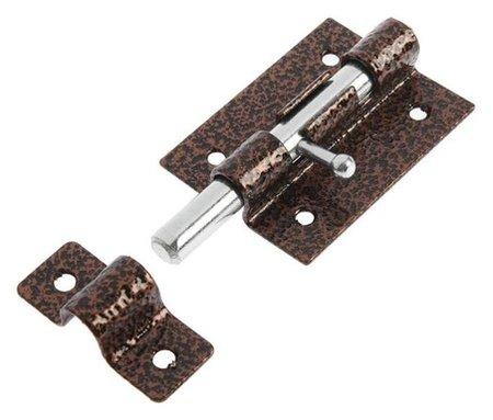 Задвижка дверная Tundra, зд-07, покрытие полимер, цвет медь, 1 шт.  Tundra