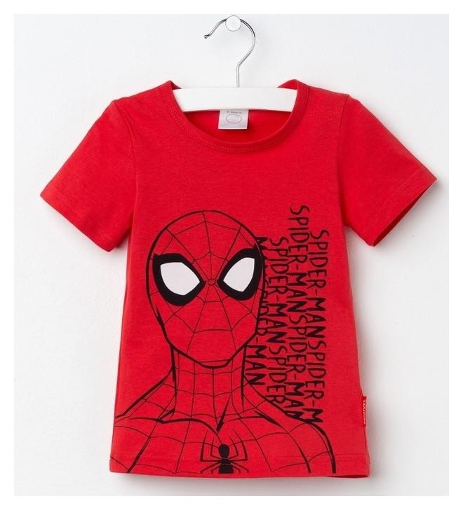"""Футболка детская Marvel """"Человек паук"""", рост 98-104 (30), красный  Marvel"""