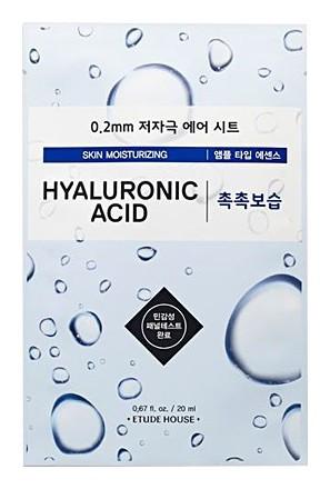 Маска для лица тканевая c гиалуроновой кислотой Therapy Air Mask Hyaluronic Acid Moisturizing Etude House Therapy Air