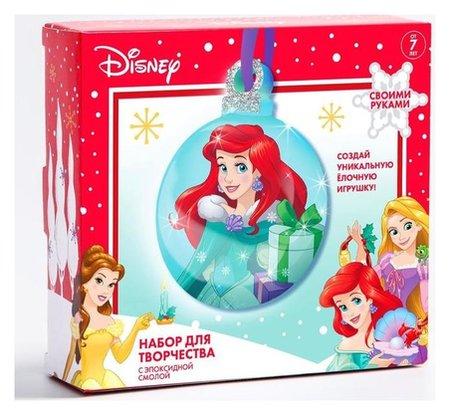 """Набор для творчества с эпоксидной смолой """"Ариэль"""" елочная игрушка, принцессы  Disney"""