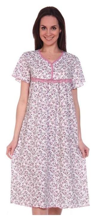 Сорочка женская, цвет шампань/цветы, размер 58  Modellini