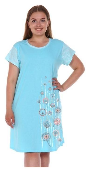 Сорочка женская, цвет голубой, размер 52  Modellini