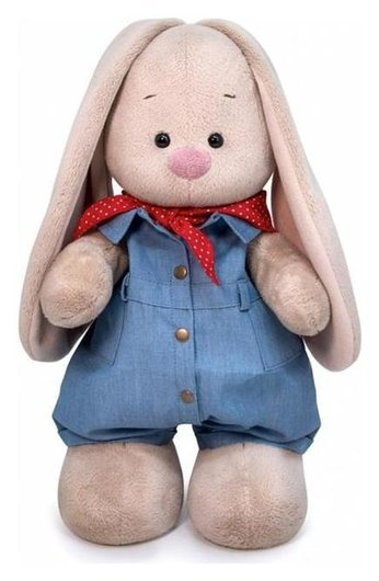 Мягкая игрушка «Зайка Ми в джинсовом комбинезоне», 25 см  Зайка Ми