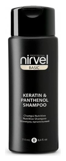 Шампунь питательный с кератином и пантенолом для сухих, ломких и поврежденных волос Keratin & Panthenol Shampoo  Nirvel
