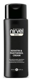 Кондиционер питательный с кератином и пантенолом для сухих, ломких и поврежденных волос Keratin & Panthenol Cream  Nirvel