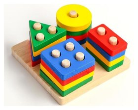Детская развивающая пирамидка «Собери сам» 11,5х11,5х5 см