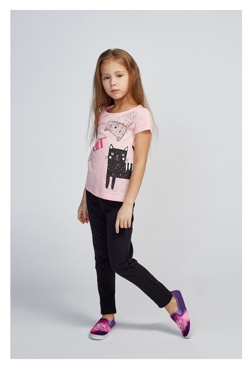 Футболка для девочки, цвет розовый, рост 128 см  Luneva