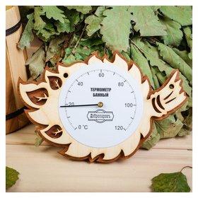 """Термометр для бани """"Листок"""", 19,3х13см,""""добропаровъ""""  Добропаровъ"""