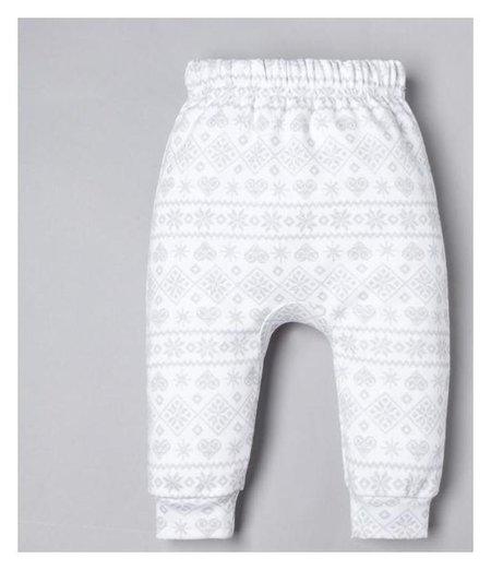 """Ползунки-штанишки крошка Я """"Олень"""", рост 68-74 см, белый  Крошка Я"""