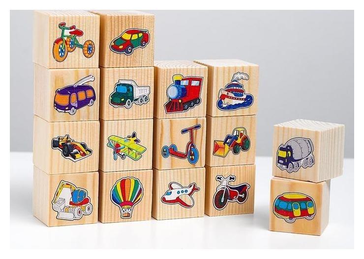 Набор кубиков «Транспорт» 16 шт.  АндАнте