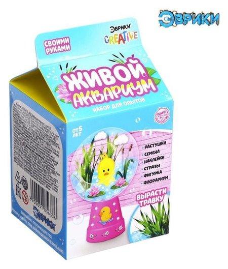 Набор для опытов «Живой аквариум-флорариум», с утёнком  Эврики