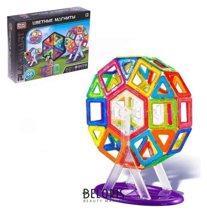 Конструктор магнитный «Цветные магниты», 46 деталей Play Smart (Joy Toy)