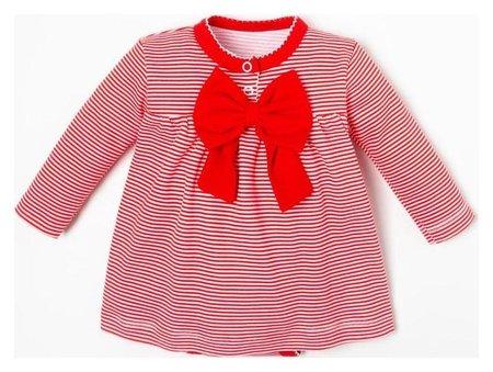 """Боди-платье крошка Я """"Полоска"""", рост 86-92 см, красный  Крошка Я"""