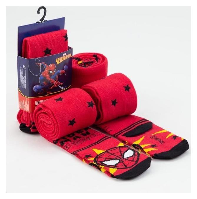 """Колготки детские """"Человек-паук"""", рост 116-122 см, красный  Marvel"""