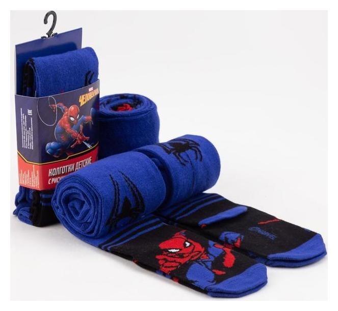 """Колготки детские """"Человек-паук"""", рост 104-110 см, синий  Marvel"""