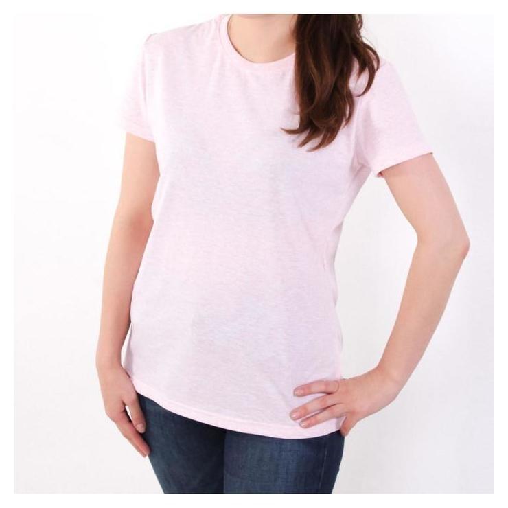 Футболка женская, цвет розовый меланж, размер 52  Jewel style