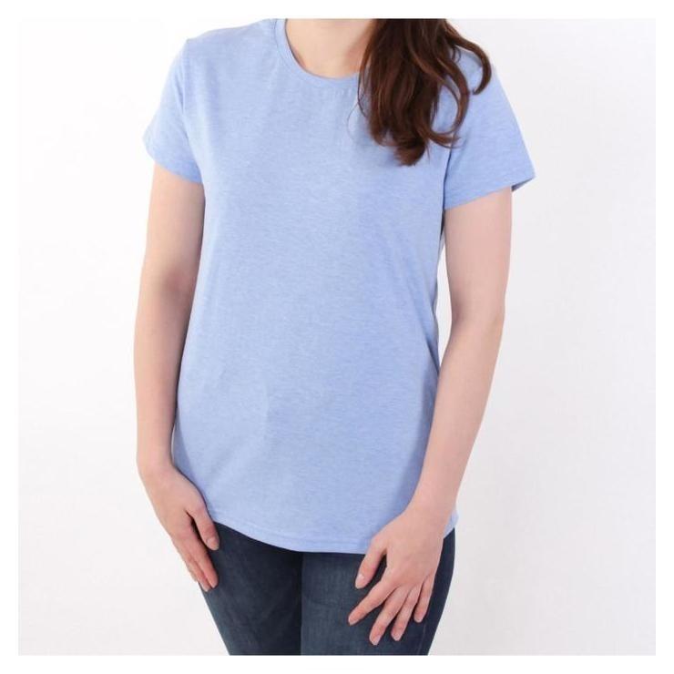 Футболка женская, цвет голубой меланж, размер 46 JS