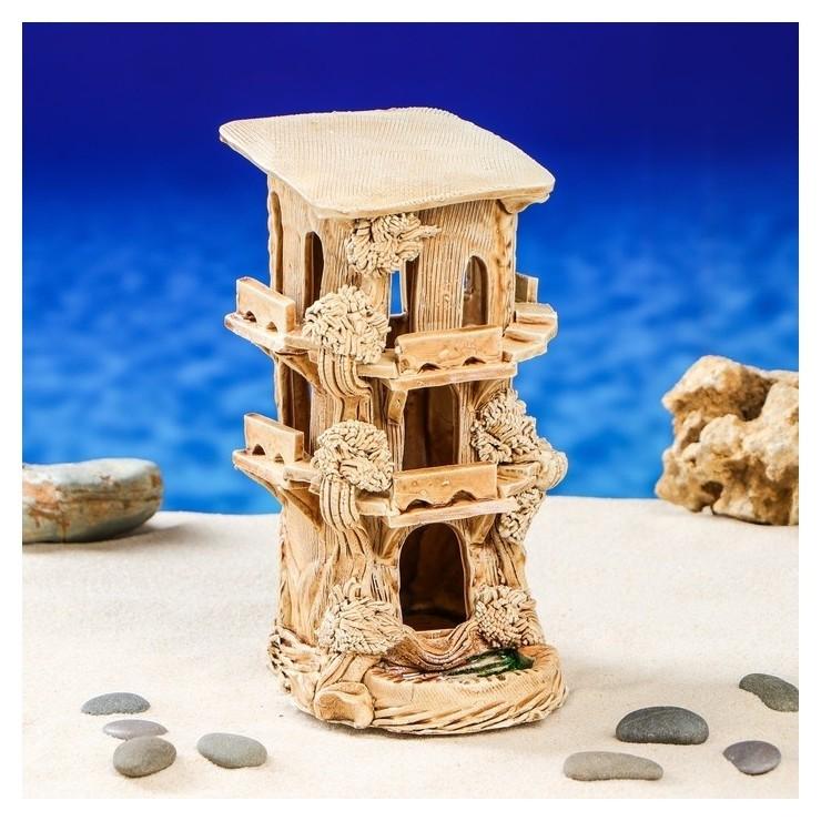 """Декорация для аквариума """"Замок черепашник""""  Керамика ручной работы"""