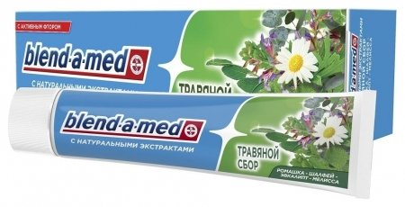 Зубная паста Анти-Кариес Травяной сбор   Blend-a-med