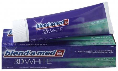 Зубная паста отбеливающая Нежная мята  Blend-a-med