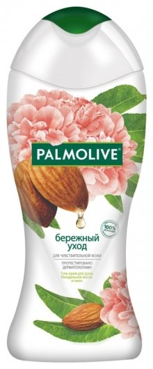 Гель для душа Бережный уход с миндальным маслом и пионом  Palmolive