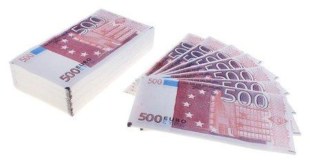 "Салфетки ""Пачка денег 500 евро"" 30 листов  Русма"