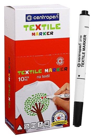 Маркер для ткани Centropen 2739, 1.8 мм, чёрный  Centropen