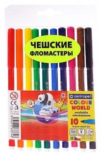 Фломастеры 10 цветов Colour World, линия 1.0 мм  Centropen