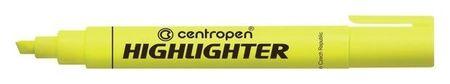 Маркер-текстовыделитель 4.6 мм Centropen 8852 флуоресцентный жёлтый  Centropen