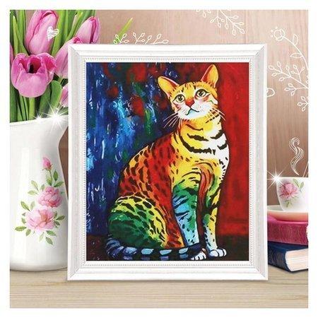 Роспись по холсту «Кошечка» по номерам с красками по 3 мл+ кисти+крепеж, 30×40 см