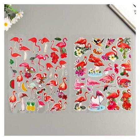 """Наклейка пластик """"Фламинго"""" 25х20 см  NNB"""