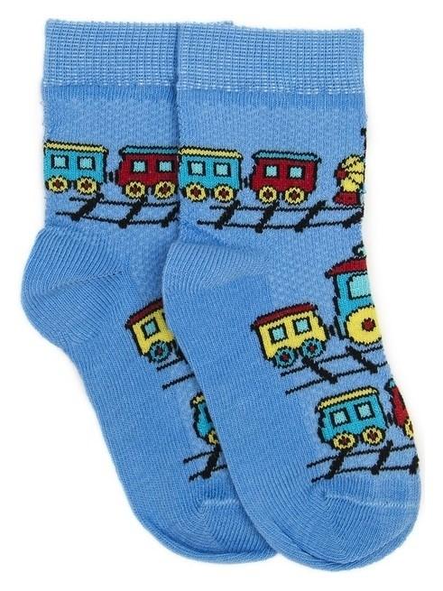Носки детские, цвет голубой, размер 12-14  Носкофф