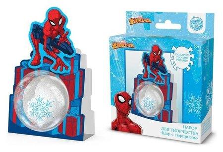 """Набор для творчества """"Шар с сюрпризом"""" человек-паук  Marvel"""