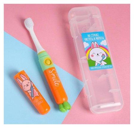 Электрическая зубная щетка «На страже чистоты и милоты», Lp-003, 19,2 х 5,5 см  Like me